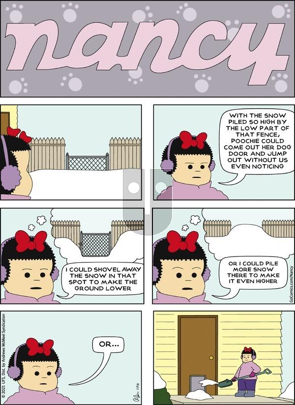 Nancy on Sunday January 17, 2021 Comic Strip