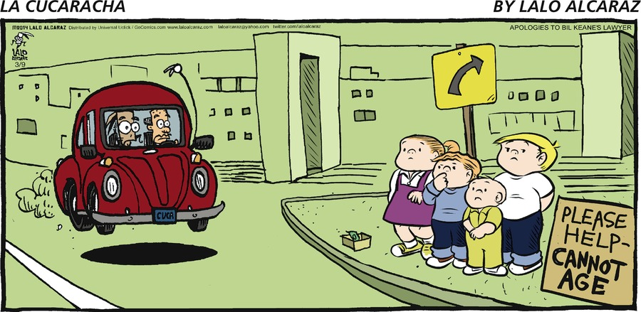 La Cucaracha Comic Strip for March 09, 2014