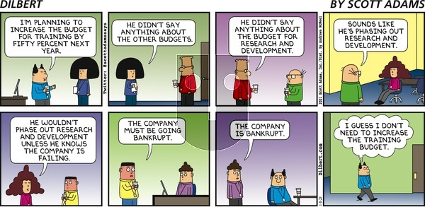 Dilbert on Sunday January 3, 2021 Comic Strip