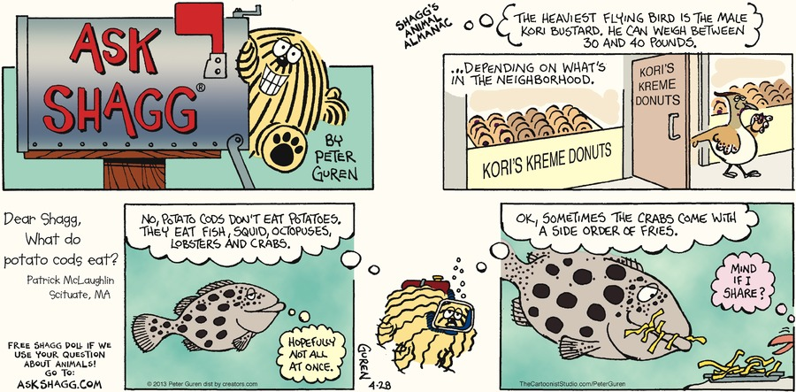 Ask Shagg for Apr 28, 2013 Comic Strip