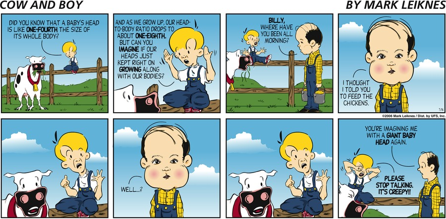 Cow and Boy Classics for Jul 16, 2006 Comic Strip