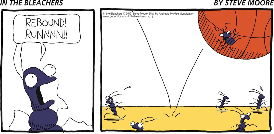 In the Bleachers for Apr 16, 2017 Comic Strip