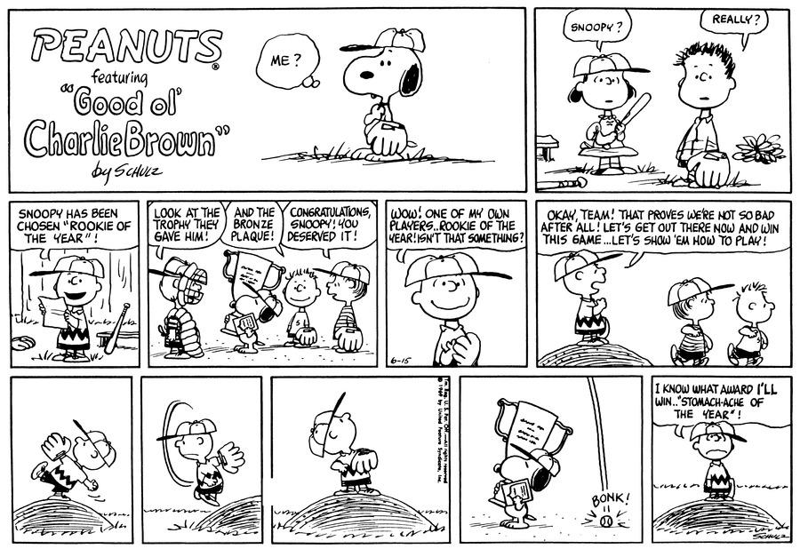 Peanuts Comic Strip for June 15, 1969