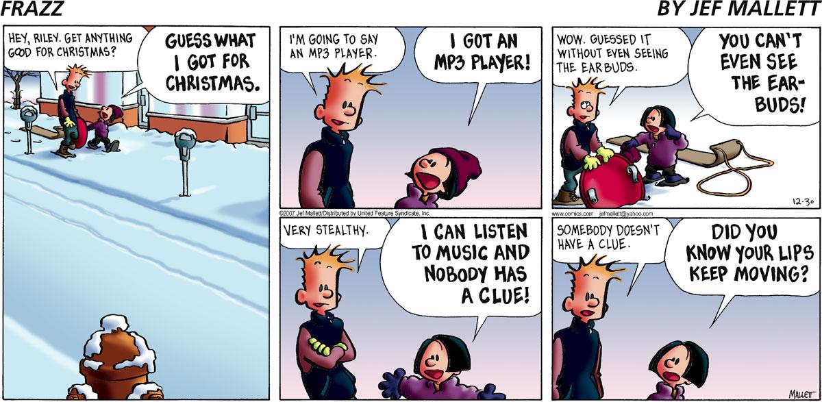 Frazz for Dec 30, 2007 Comic Strip