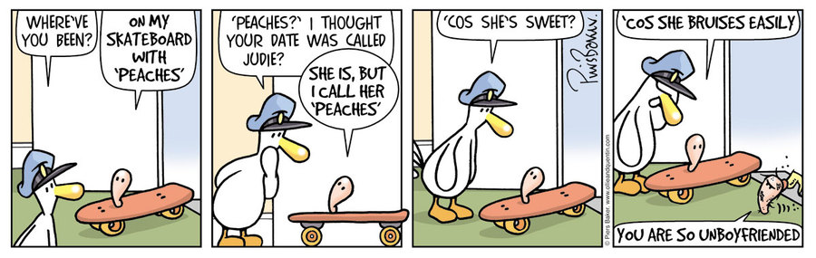 Ollie and Quentin for Jul 4, 2014 Comic Strip