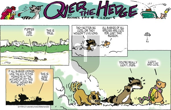 Over the Hedge on Sunday January 27, 2019 Comic Strip
