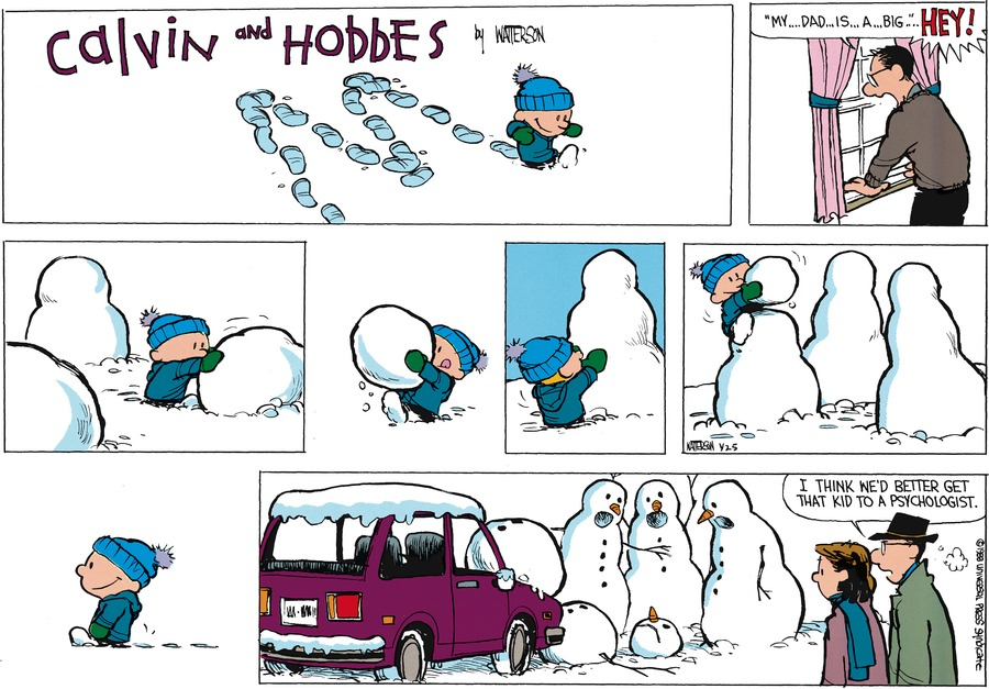 Calvin and Hobbes for Feb 28, 1988 Comic Strip