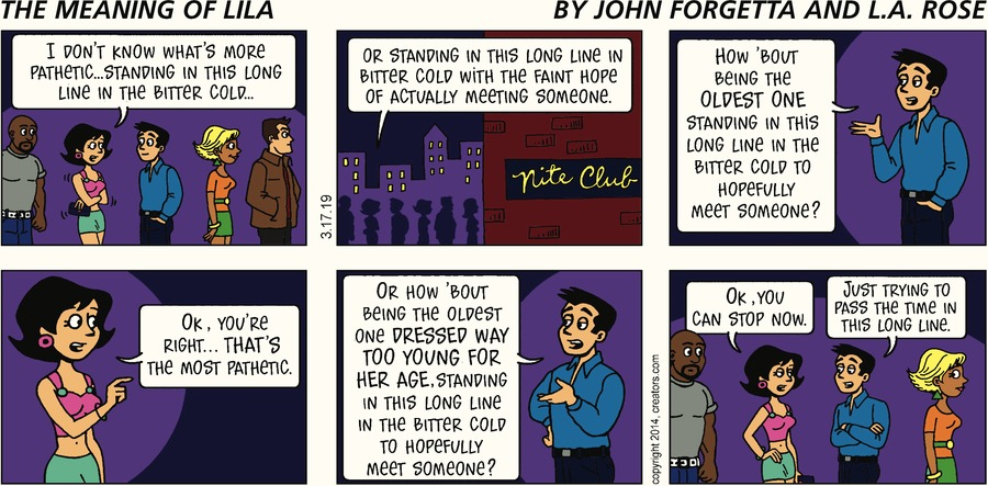 The Meaning of Lila by John Forgetta and L.A. Rose for March 17, 2019