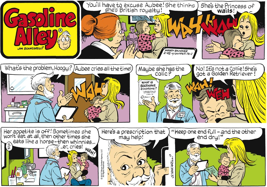Gasoline Alley Comic Strip for November 11, 2018