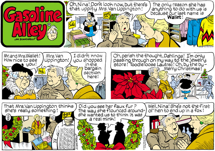 Gasoline Alley for Dec 9, 2012 Comic Strip