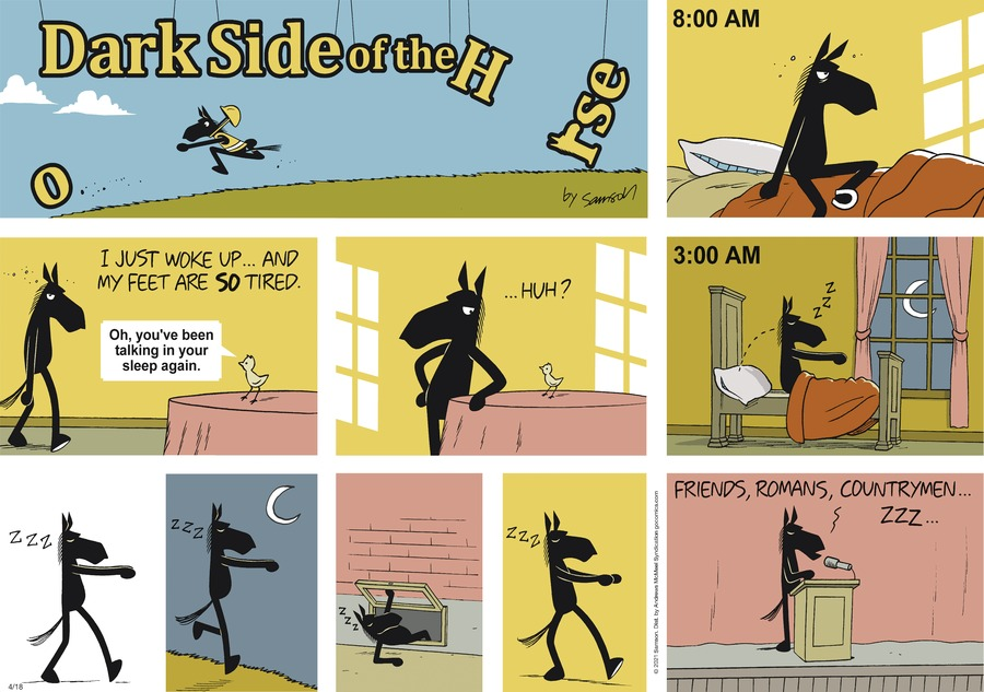 Dark Side of the Horse Comic Strip for April 18, 2021