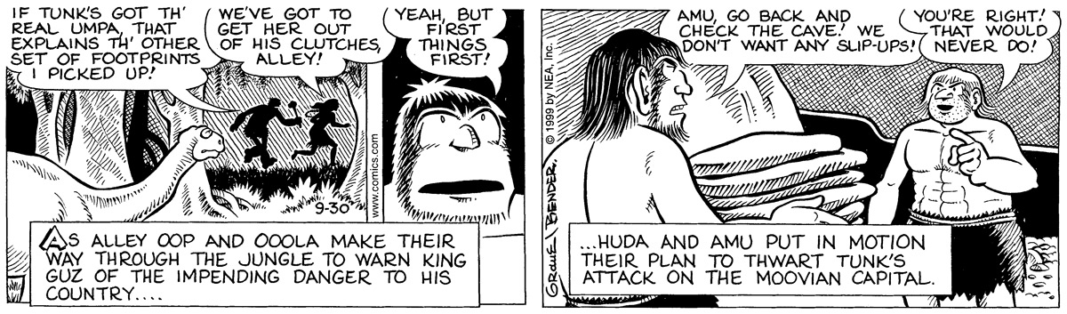 Alley Oop for Sep 30, 1999 Comic Strip