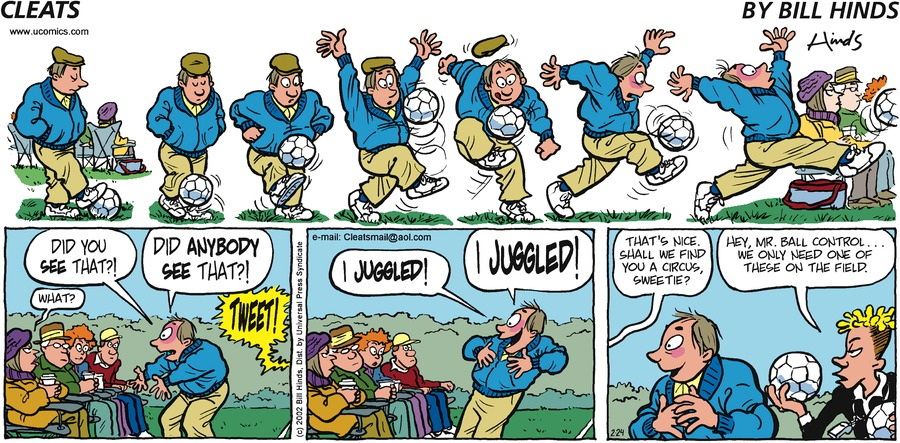 Cleats Comic Strip for February 24, 2002