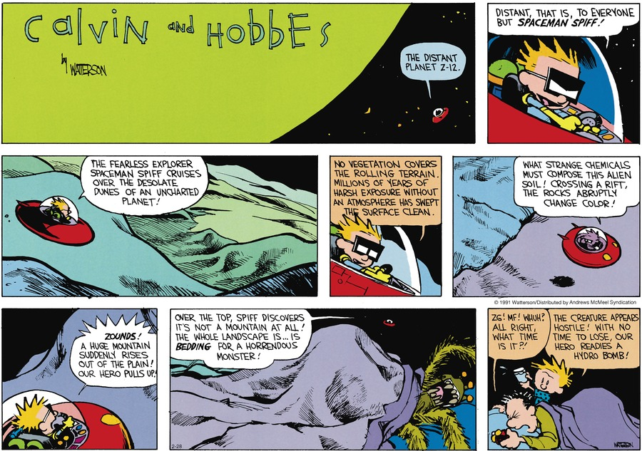 Calvin and Hobbes Comic Strip for February 28, 2021