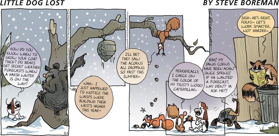 Little Dog Lost for Dec 9, 2012 Comic Strip