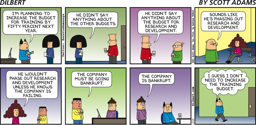 Increasing Training Budget - Dilbert by Scott Adams
