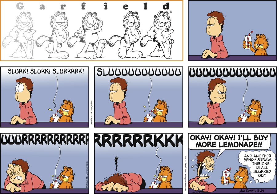 Garfield for Mar 24, 2013 Comic Strip