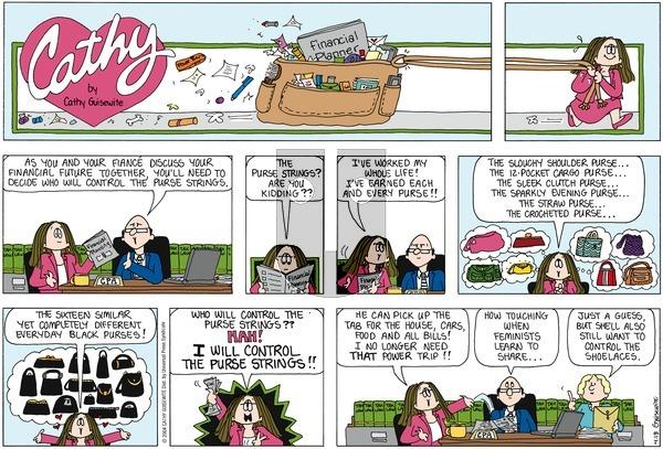 Cathy Classics on Sunday April 18, 2004 Comic Strip