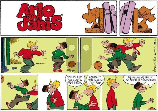 Arlo and Janis on Sunday December 23, 2001 Comic Strip