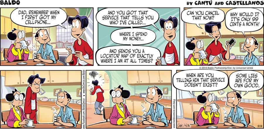 Baldo for Sep 6, 2015 Comic Strip