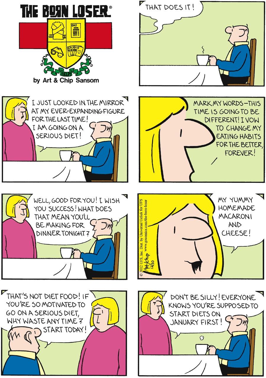 The Born Loser for Dec 30, 2012 Comic Strip