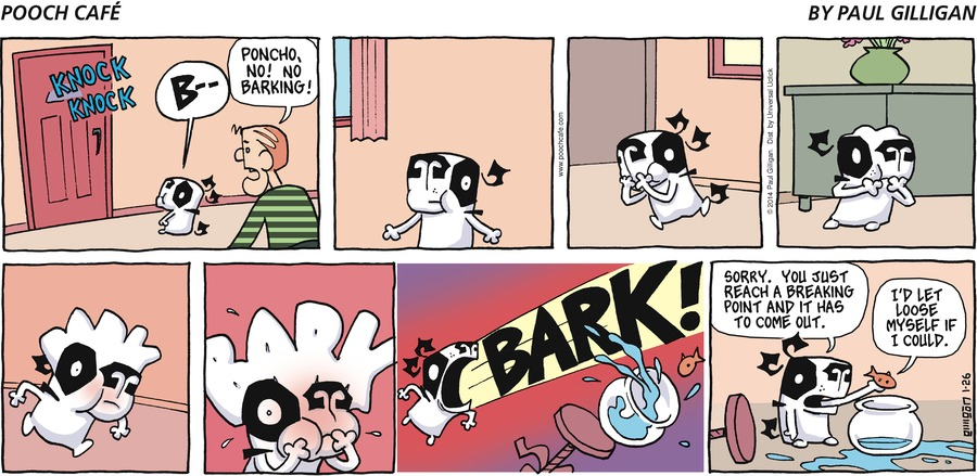 Pooch Cafe Comic Strip for January 26, 2014