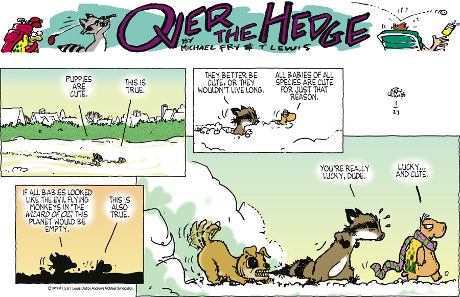 Over the Hedge Comic Strip for January 27, 2019