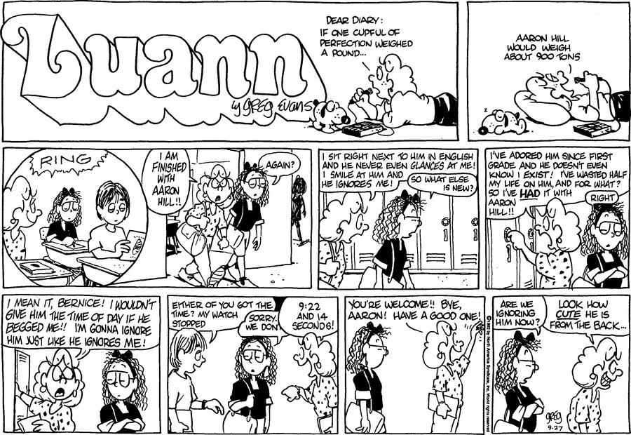 Luann Againn Comic Strip for September 27, 2020
