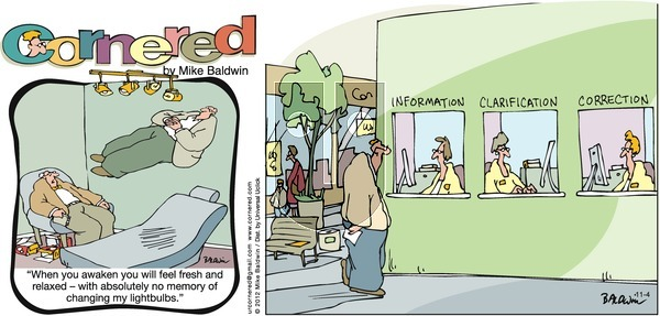 Cornered on Sunday November 4, 2012 Comic Strip