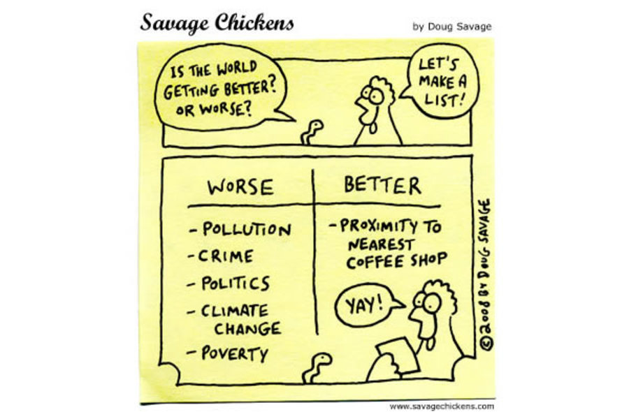Worm: Is the world getting better? or worse?
