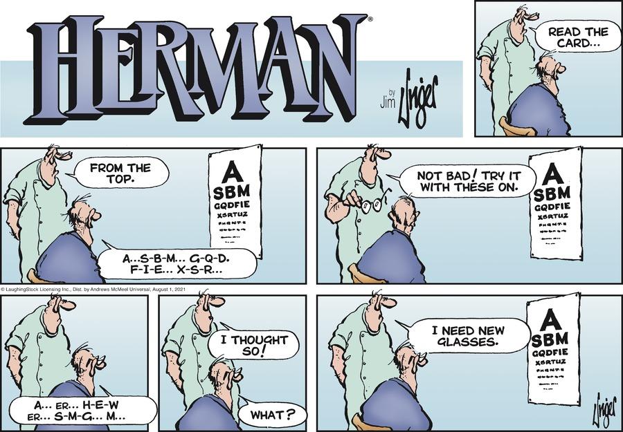 Herman Comic Strip for August 01, 2021