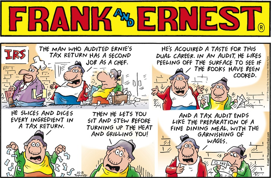 Frank and Ernest Comic Strip for October 08, 2017