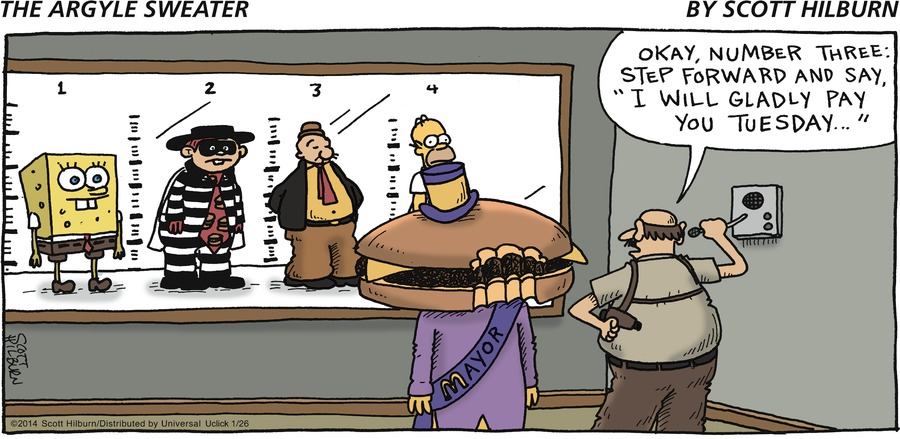 The Argyle Sweater Comic Strip for January 26, 2014