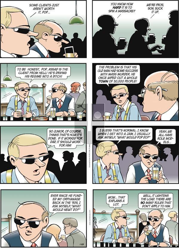 Doonesbury on Sunday January 29, 2012 Comic Strip