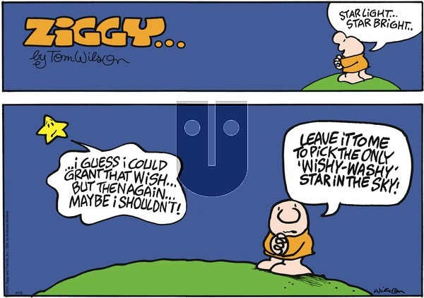 Ziggy on Sunday April 18, 2021 Comic Strip