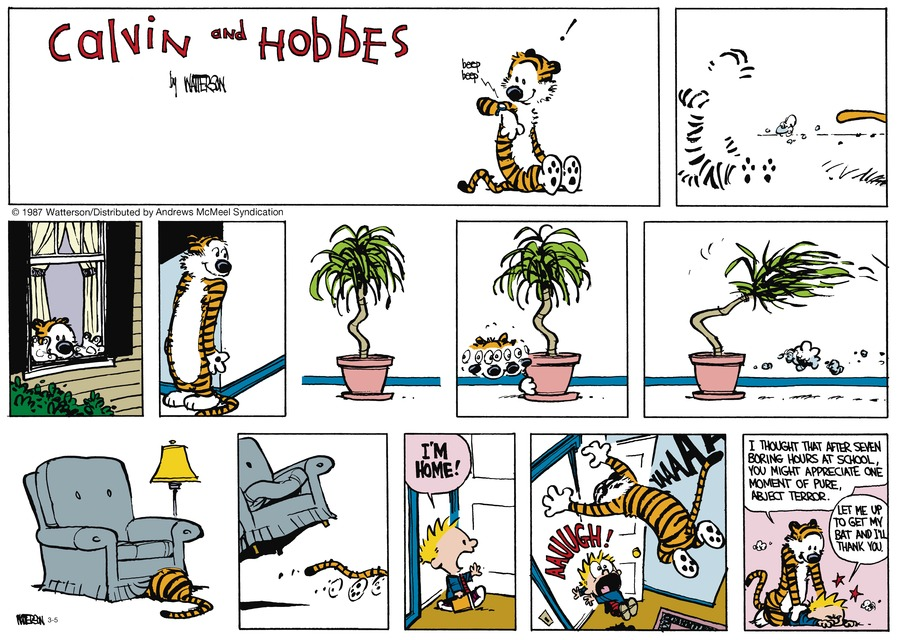 Calvin and Hobbes Comic Strip for March 05, 2017