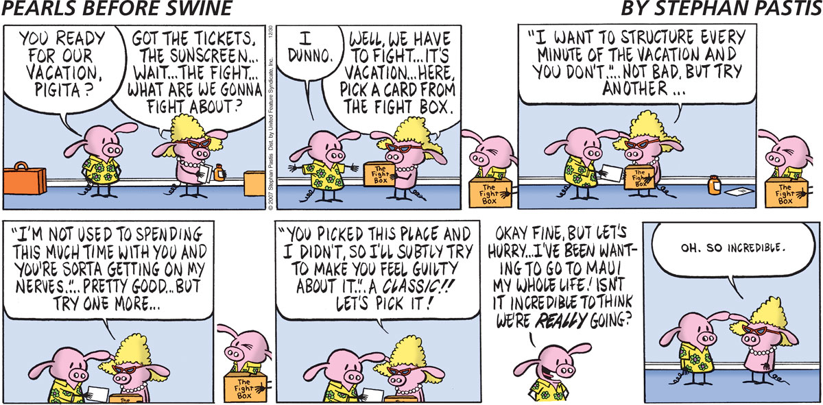 Pearls Before Swine Comic Strip for December 30, 2007