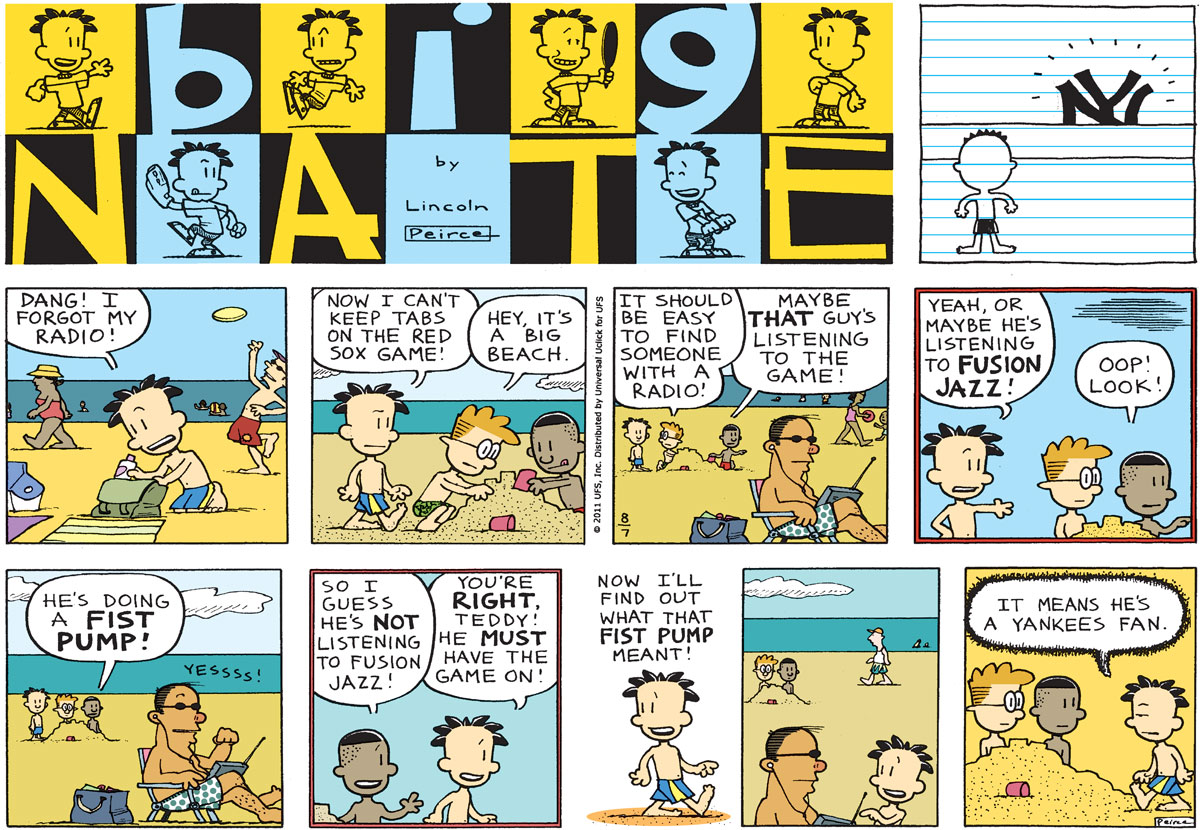Big Nate Comic Strip for August 07, 2011