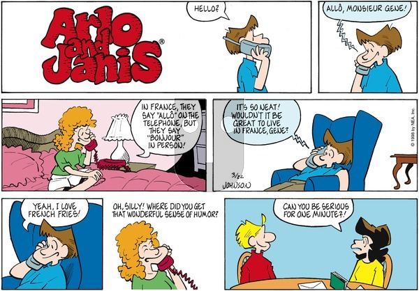 Arlo and Janis on Sunday March 22, 1998 Comic Strip