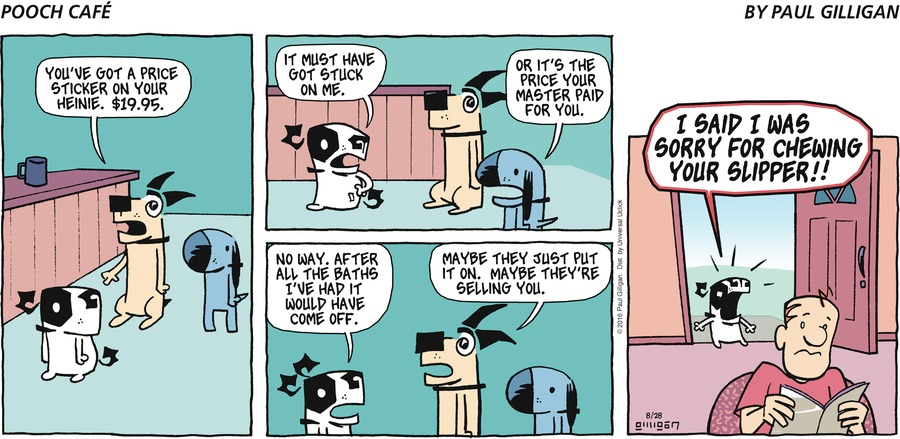 Pooch Cafe Comic Strip for August 28, 2016