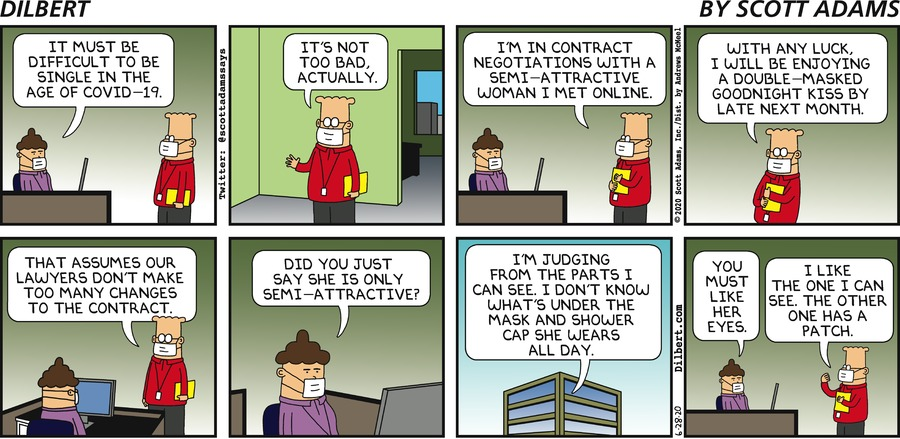 Dating In The Age Of Coronavirus - Dilbert by Scott Adams
