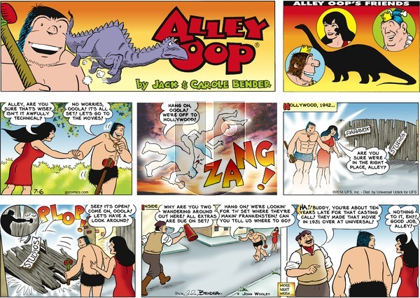 Alley Oop on Sunday July 6, 2014 Comic Strip