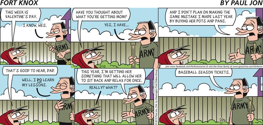 Fort Knox for Feb 10, 2013 Comic Strip