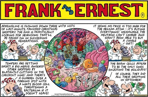 Frank and Ernest - Sunday December 23, 2012 Comic Strip