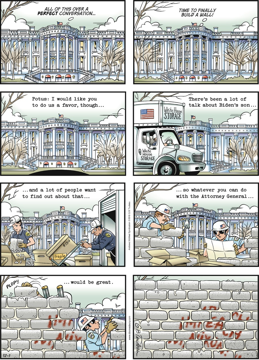 Doonesbury Comic Strip for December 01, 2019