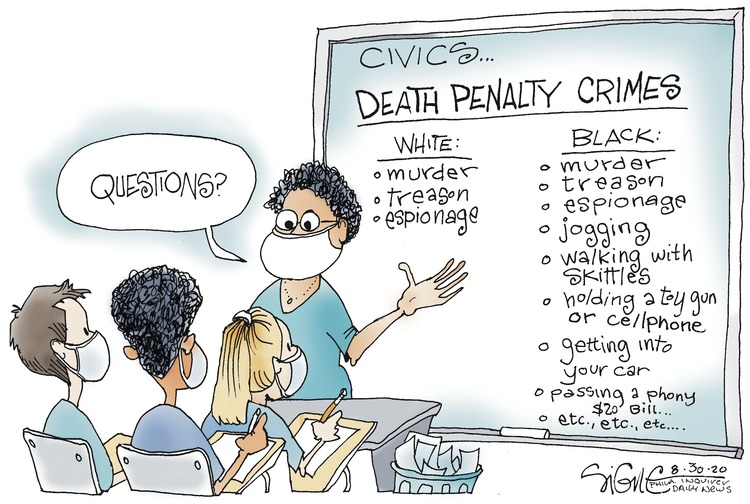 Signe Wilkinson Comic Strip for August 30, 2020