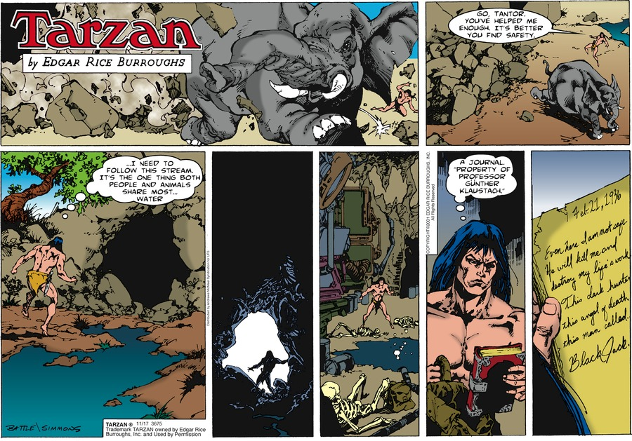 Tarzan Comic Strip for November 17, 2019