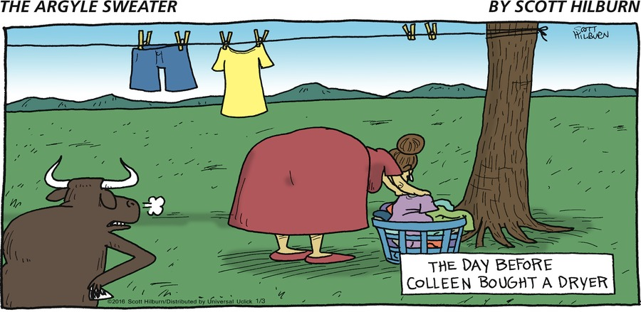 The Argyle Sweater Comic Strip for January 03, 2016