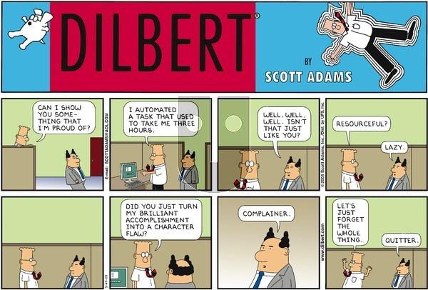 Dilbert - Sunday May 29, 2005 Comic Strip