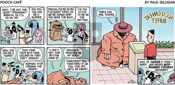 Pooch Cafe on Sunday November 29, 2015 Comic Strip